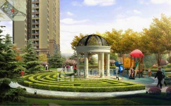 采用欧式新古典风格,将景观进行功能分区
