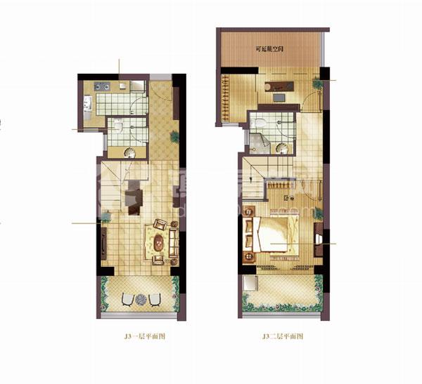 复式小楼玩转两层空间