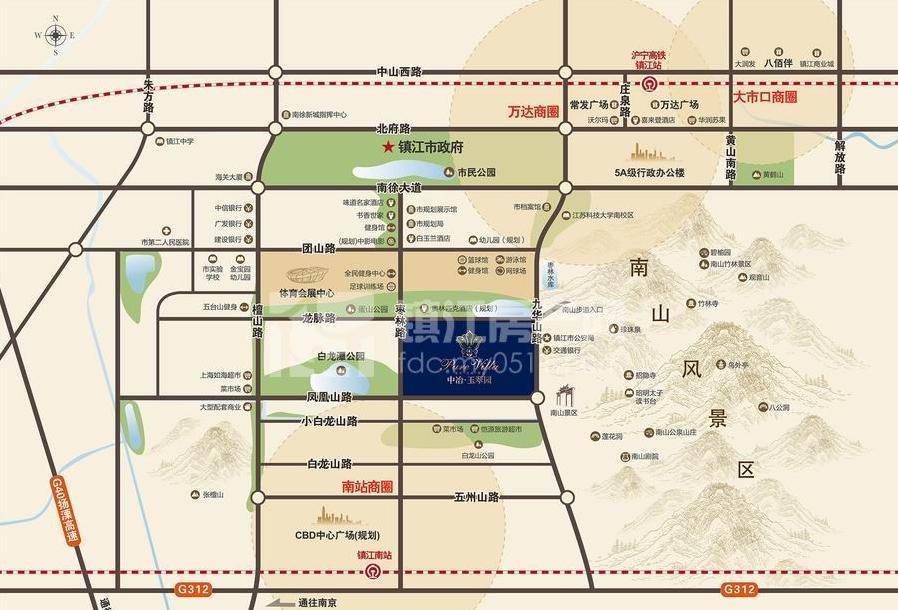 项目东倚4a级景区---南山风景区,西临10万方的白龙潭轻水公园,呈现